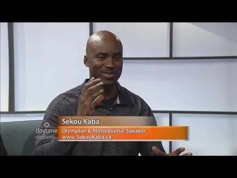 Olympian Sekou Kaba and the Youth Sport Expo on daytime Ottawa