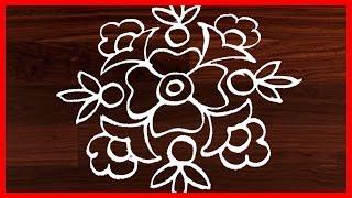 #247 - Simple Kolam Design Art | Easy Rangoli Designs | Latest Rangavalli | Festival Arts
