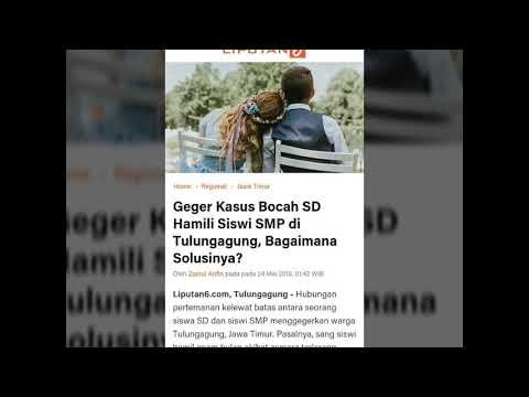 GEGER KASUS BOCAH SD HAMILI SISWI SMP DI TULUNGAGUNG BAGAIMANA SOLUSINYA? thumbnail