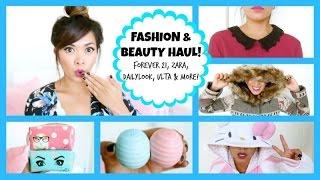 Fashion & Beauty Haul 2014! Zara, Forever 21, Zoella Beauty + More! Thumbnail
