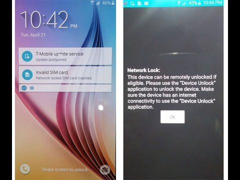 how to change mobile.network samsung s6