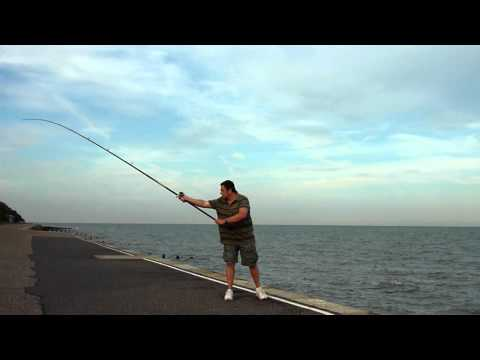 how to set up a surf casting rod