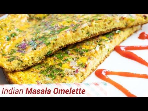 Perfect Omelette recipe- masala omelette for breakfast, brunch ,lunch or dinner. Indian omelette