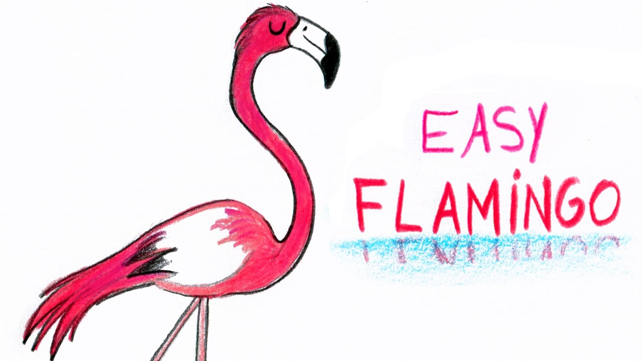 How To Draw A Flamingo Easy Way Comment Dessiner Facilement Un