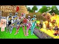 POWER RANGERS BASE VS CLASH OF CLANS APOCALYPSE - MINECRAFT TROLL + ROLEPLAY
