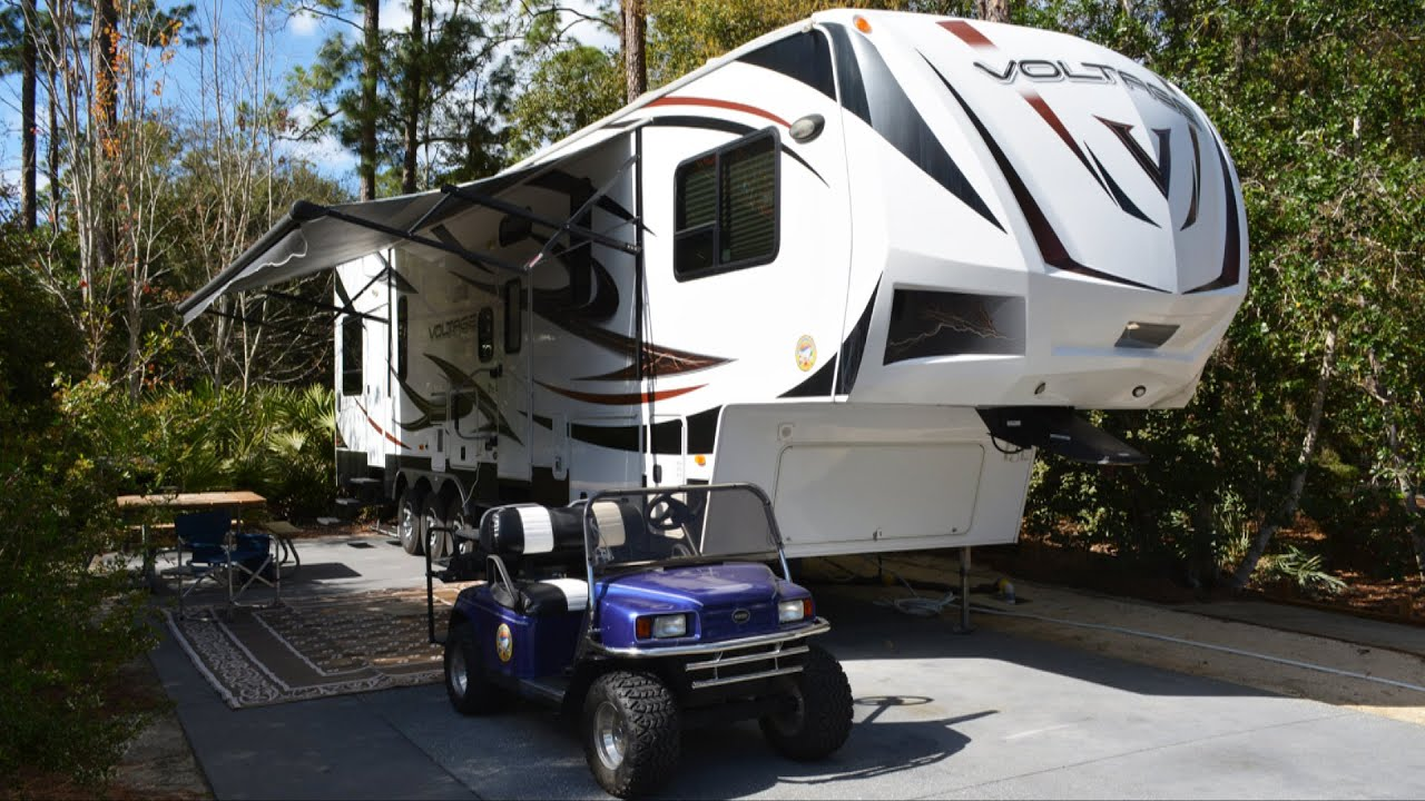 RV Tour Of Moore Camping Rentals Luxury Camper Voltage V3600 While At Disneys Fort Wilderness