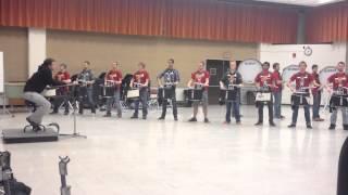 ISU Drumline/ Indoor Rehearsal (11-21-2013) Part 1