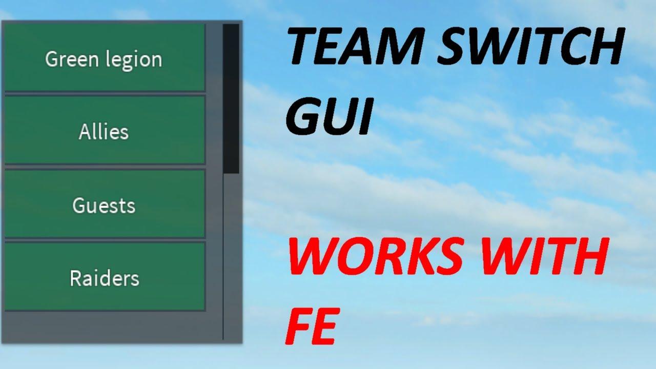Team Switch/Changer Gui set up tutorial