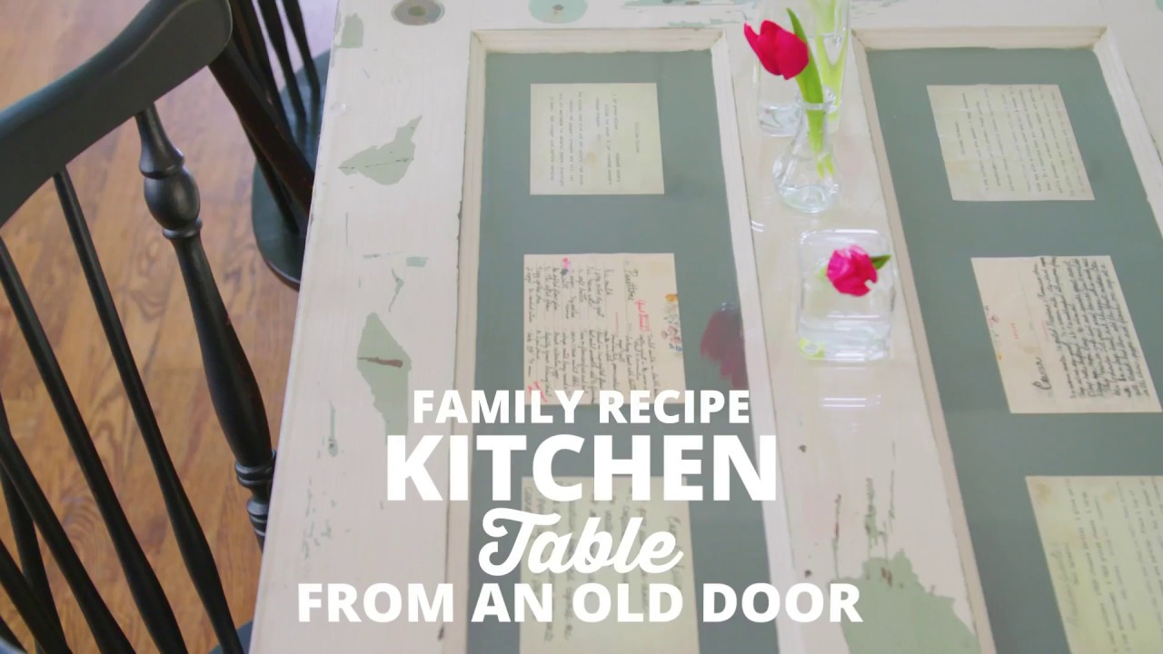 Kitchen Table From An Old Door Diy Network