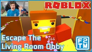 EATEN BY A GIANT!!! - Roblox Escape The Living Room Obby