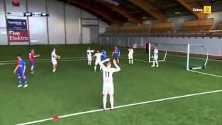 Футбол в 3D очках транслирующих с высоты птичего полета