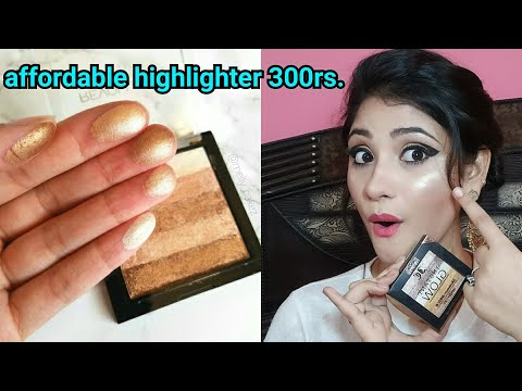 Very affordable highlighter under 300rs || Incolor highlighter || shystyles