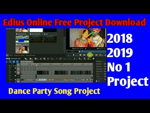 Edius New project 2018-2019 ! Edius free hindi song project