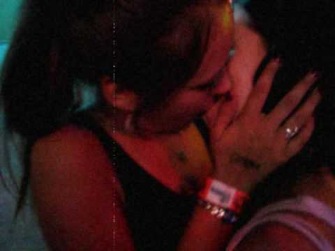 Ladies mexican and black girl making out girl
