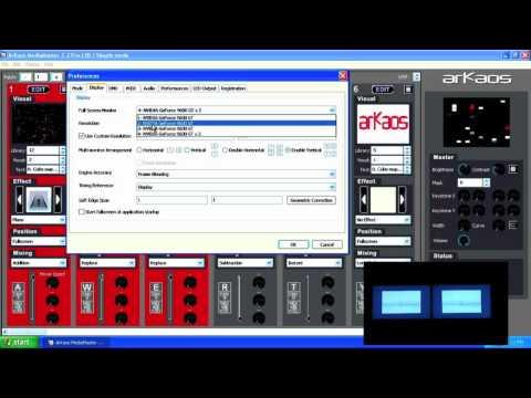 ArKaos MediaMaster Tutorial 2 - Output settings
