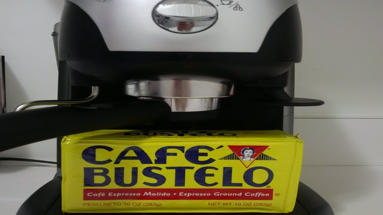 Cafe Bustelo Coffee- Using an Espresso Machine to make it: Review