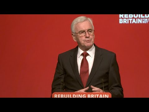 Analysis of John McDonnell's speech to Labour Party Conference