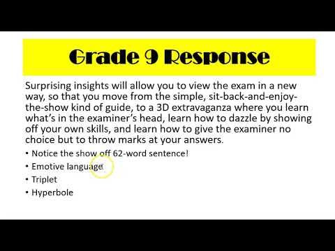 Writing to Inform: Grade 9