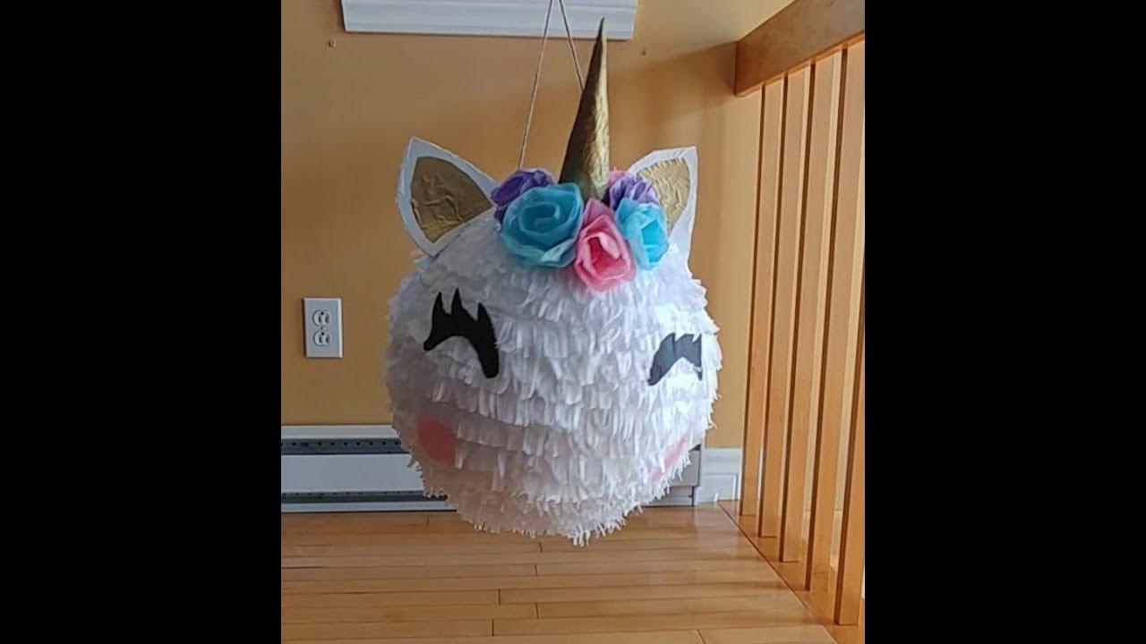 Piñata Unicornio Redonda Youtube
