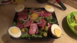 Вариации на тему салата Нисуаз (с варено-копченой уткой)