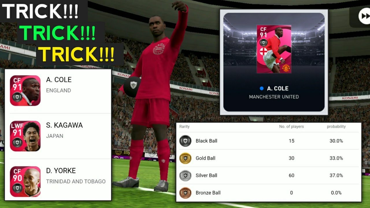 Best Time To Get Iconic Moments In Pes Mobile 2021 | Iconic Moment : Manchester United Trick Pes2021