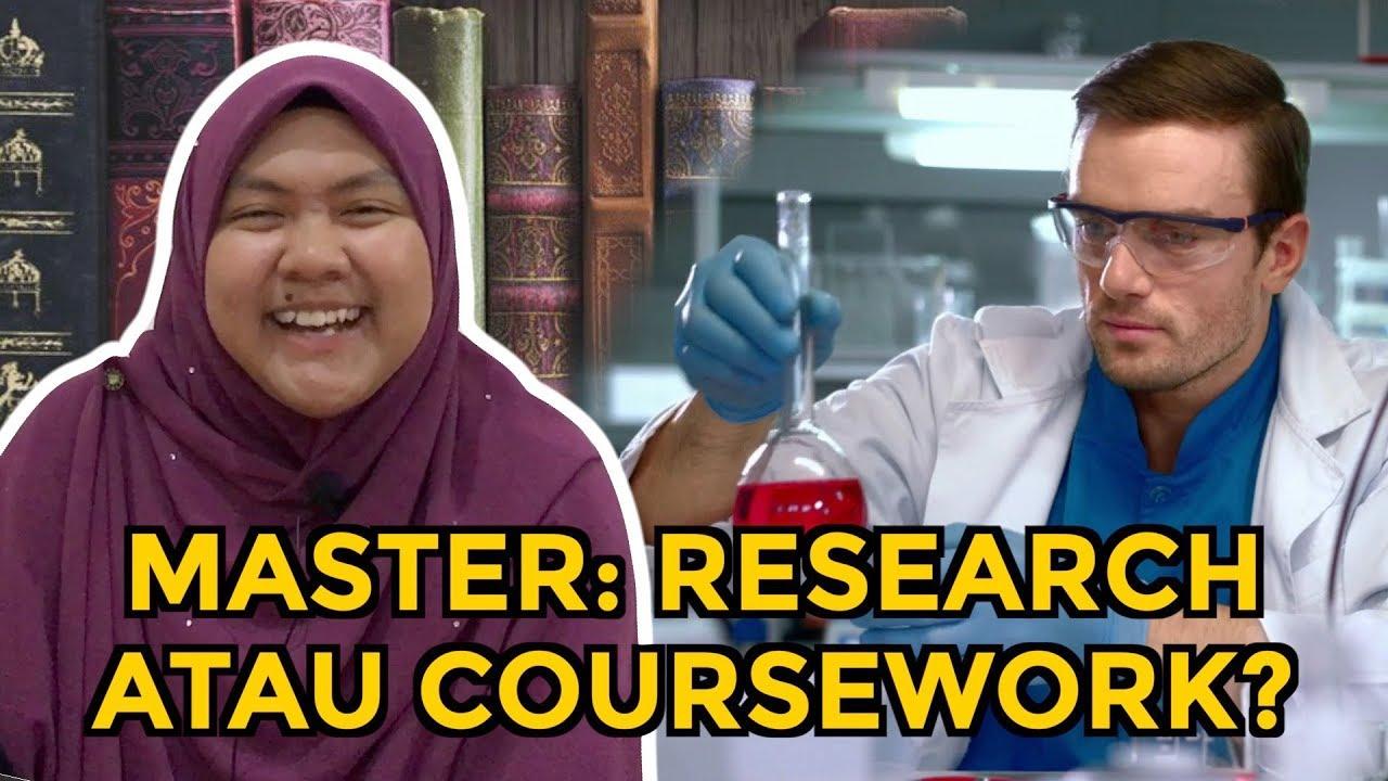 perbezaan coursework and research