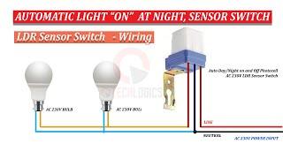 Automatic light sensor  220 Volt Auto Day/Night On/Off Photocell LDR Sensor Switch Wiring