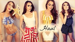 Summer Try On Haul 2015! Crop Tops, Bikini, Dresses & more | Jackie Wyers