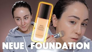 Super Hyped Foundation im Test! 🕵🏻‍♂️ Hourglass Vanish Liquid ☕️ First Impression Hatice Schmidt