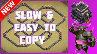 Easy To Copy The Spiral | New SUPER COOL Th9 Base (3D Design) - Clash Of Clans (CoC)