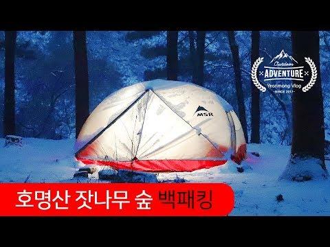 가평 호명산 잣나무 숲 겨울  백패킹 / 비박 / 등산 / 캠핑 / MSR 엘릭서 2