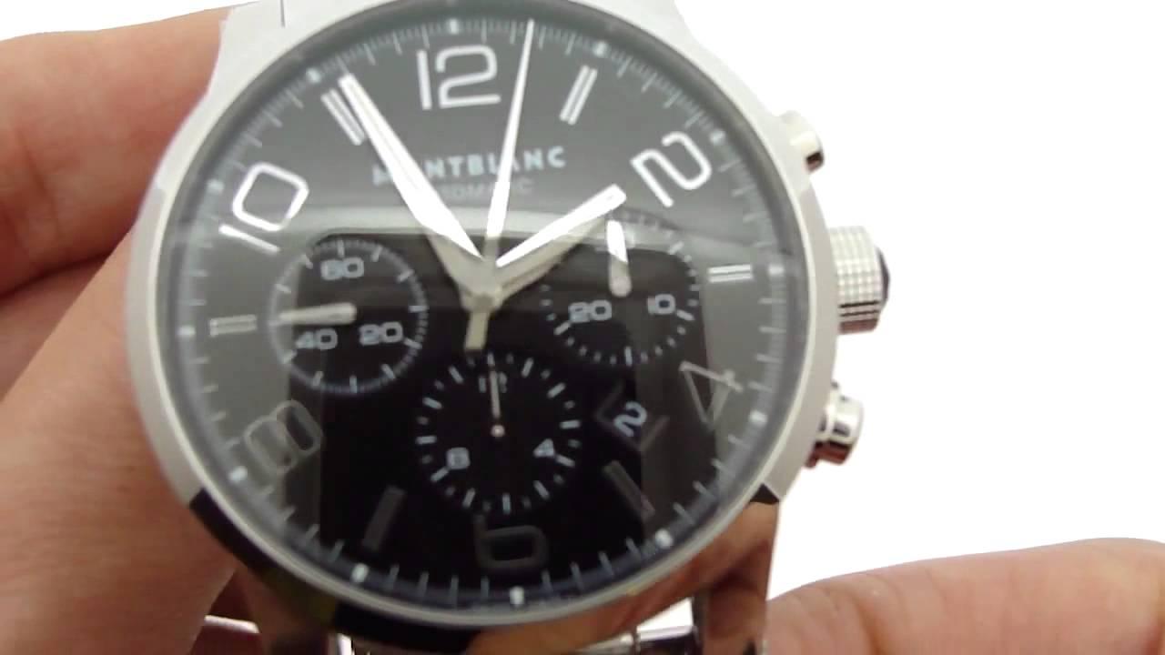 1c350ce7052 Relógio Montblanc Time Walker Cronograph - YouTube