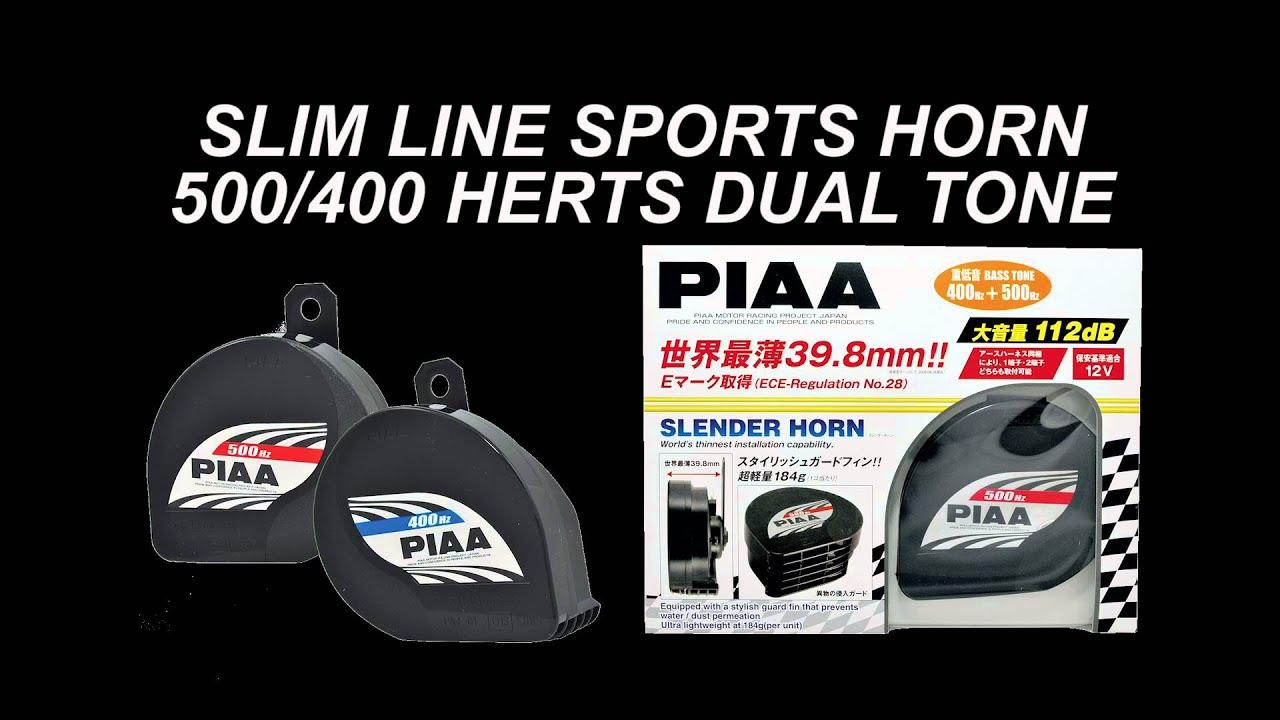 piaa powersports slim line sports horn 500hz 76501