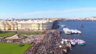 Смотреть видео Россия Вести 10 05 2015 Санкт Петербург  Военно морской парад  Новости России Сегодня 10 05 2015 онлайн