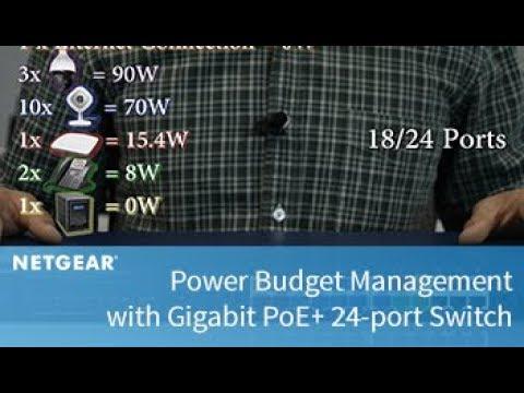 Power Budget Management With Gigabit PoE+ 24-port Switch   Business Break