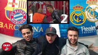 fc barcelona fans react to real madrid punishing destroying bayern munich 2 1 live reaction