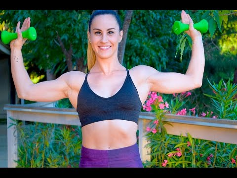 25 Min Arms Workout with Weights // Arms Back Chest Shoulders