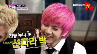 vietsub 130723 all the kpop mblaq thunder 2ne1 sandara s phone call cut aplusvnteam