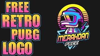 Youtube bedava logo psd | Free Pubg Retro Logo | [ youtube bedava logo yapma] #17