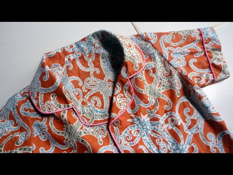 How To Sewing Pajamas With Rever Collar