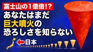 【衝撃】富士山大噴火と世界最大の噴火を比較してみたらヤバかった