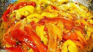 477 - Peperoni alla siciliana...e la fame si allontana! (contorno vegetariano delizioso e facile)
