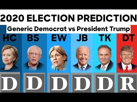 Generic Democrat vs Donald Trump   2020 Election Prediction