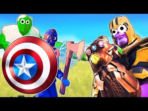 TABS - THANOS vs THE AVENGERS! Avengers Endgame Battle in Totally Accurate Battle Simulator