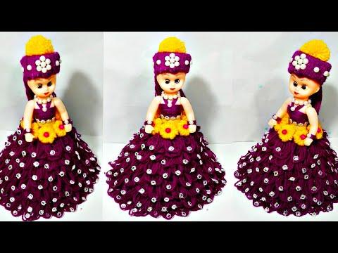 Wool doll рдмреЗрдХрд╛рд░ рдКрди рд╕реЗ рд╕реБрдВрджрд░ рдЧреБрдбрд┐рдпрд╛ рд╕рдЬрд╛рдиреЗрдВ рдХрд╛ рддрд░реАрдХрд╛ /Wool  Doll decoration /DIY/woolen doll