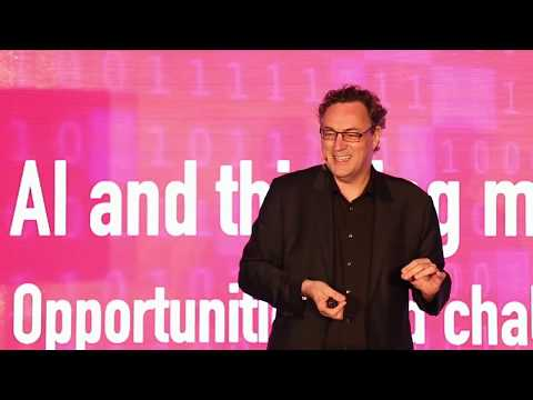 Futurist Keynote Speaker Gerd Leonhard Keynote on AI Futures at Accenture CIO Forum 2017 Hong Kong