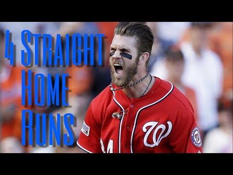 MLB: Four Straight Home Runs By One Team