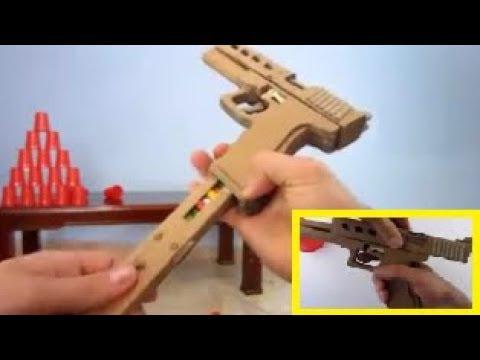 Membuat Pistol Mainan Dari Kardus Bekas