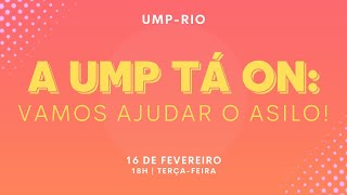A UMP TÁ ON | Live solidária | 16.02.2021