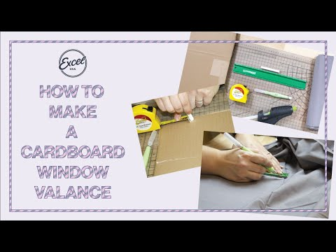 How To Make A Cardboard Window Valance - Excel Blades